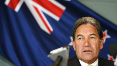 NZ Deputy Prime Minister,  Foreign Minister and leader of NZ First Party Winston Peters.