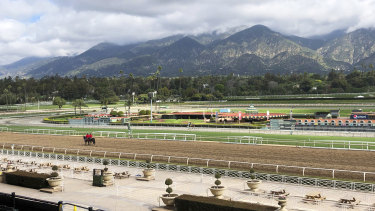 The picturesque Santa Anita racetrack recorded 23 equine fatalities in three months at one stage.