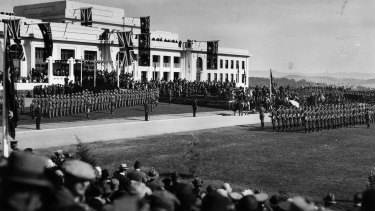 """""""It was a day of pride and rejoicing..."""" The opening of the new Parliament House in Canberra, 1927."""