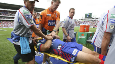 Johns was concussed and left the field on a stretcher after a hit by Sonny Bill Williams in 2007.