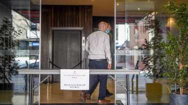 The Rydges hotel in Carlton, after the coronavirus outbreak occurred.
