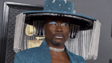 Billy Porter's hat its own motorised curtain.