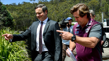 Manly owner Scott Penn and coach Des Hasler.