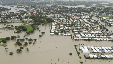 Flooding in Townsville, shortly after bushfires and drought.