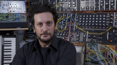 Ehsan Gelsi with his treasured Moog System 55.