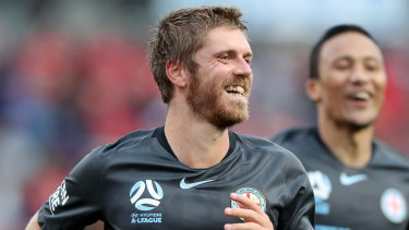 New Blue: Luke Brattan has joined Steve Corica's recruitment drive at reigning A-League champions Sydney FC.
