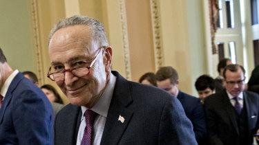 A historic moment, says Senate Minority Leader Chuck Schumer, a Democrat.