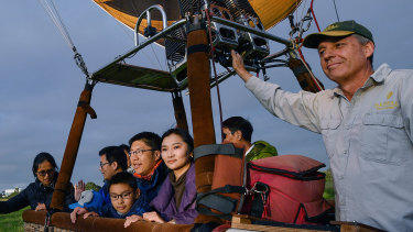 Half of Global Ballooning's clientele are visitors from China.