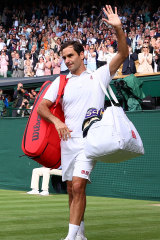 Federer farewells Wimbledon after being knocked out in the quarter-finals.