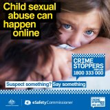 Image from the new eSafety commissioner and Crime Stoppers child safety campaign.