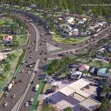 An artist's impression of the redesigned intersection at Fitzsimons Lane and Main Road in Eltham.