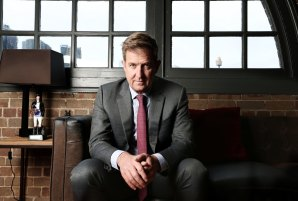 Former Seven West Media chief executive Tim Worner in his old Pyrmont offices in 2016.