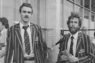 Rick Mitchell, left, at the 1980 Moscow Olympics.