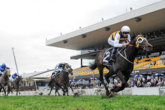 Quick Thinker surges away to win the Ming Dynasty Quality at Rosehill in the spring.