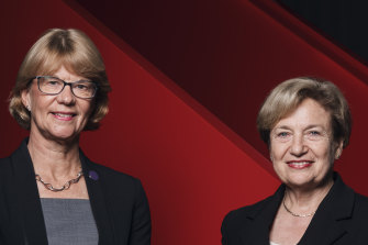Coca-Cola Amatil CEO Alison Watkins and chairman Ilana Atlas.