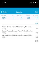 The food app used by Smith.