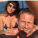 "Jodhi Meares and Sydney property developer make their romance public with a ""debut selfie"" on Instagram."