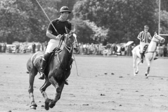 Prince Charles plays polo at Ham in 1981, the year he married Princess Diana. Nicholas Colquhoun-Denvers stepped down as chair of the London polo club last year after a quarter century in the role.