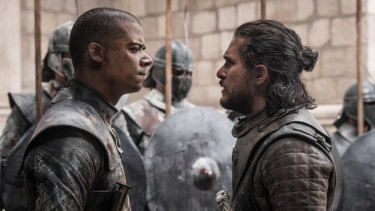 Grey Worm and Jon Snow did not see eye to eye on the appropriate use of military force.