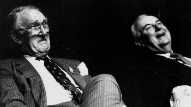 Former prime ministers Malcolm Fraser and Gough Whitlam