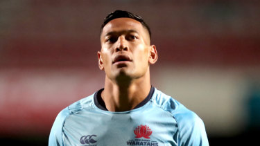 Awaiting his fate: A decision on Israel Folau's future has been delayed by 24 hours.