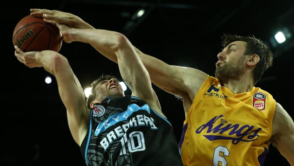 Bogut rules as Kings snap NBL duck in crushing win over the Breakers