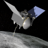 An artists rendering of OSIRIS-Rex over Bennu.