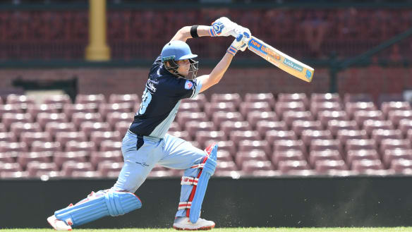 On the attack: Steve Smith in action for Sutherland at the SCG on Sunday.