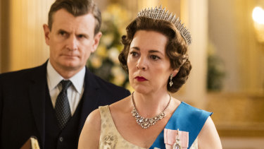 Olivia Colman as Queen Elizabeth II in The Crown.