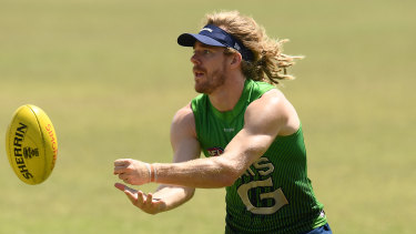 Cam Guthrie in action at training