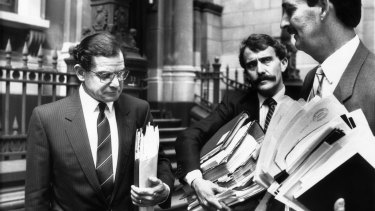 """Coroner Hal Hallenstein (left) found Victoria Police in the grip of a """"culture of bravery""""."""