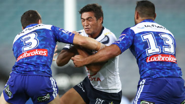 Te Maire Martin suffered a brain bleed in the wake of a match against the Bulldogs in round seven of 2019.
