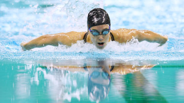 Emma McKeon qualifies fastest for the 100m butterfly final.