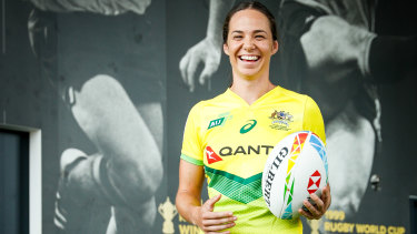 Signing coup: Chloe Dalton will stick strong with rugby ahead of the postponed Tokyo Olympics.