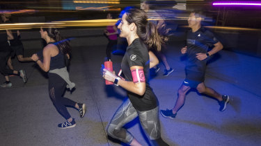 Sydney's Midnight Runners whirl around the CBD and harbour every Wednesday evening to a pop soundtrack.