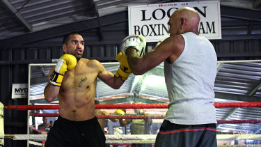 Dropping bombs: Tony Mundine (right) says