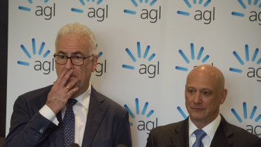 AGL chairman Graeme Hunt and Andy Vesey.
