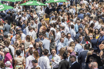 Racegoers packed into Royal Randwick on Everest day in 2019.