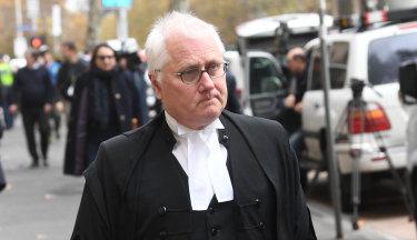 George Pell's lawyer Bret Walker, SC.