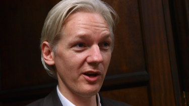 In his earlier years: Founder and editor of the WikiLeaks website, Julian Assange.