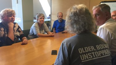 Grey Power 'shares knowledge about climate change' at Brisbane Square Library.