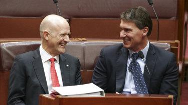Crossbench Senators David Leyonhjelm and Cory Bernardi have an alliance together.