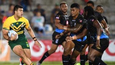 Case for the defence: Fiji prepare to meet David Fifita.