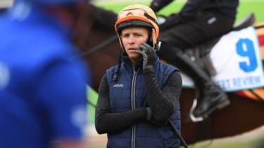 Talking history: Kerrin McEvoy will join Glen Boss and Damien Oliver as a three-time Melbourne Cup winner should Cross Counter salute on Tuesday.