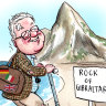 Downer scales the Rock of Gibraltar