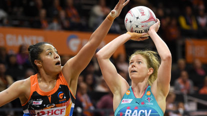 Vixens claim win on the road over Giants