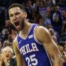Simmons stars as 76ers open their NBA season by thumping Boston