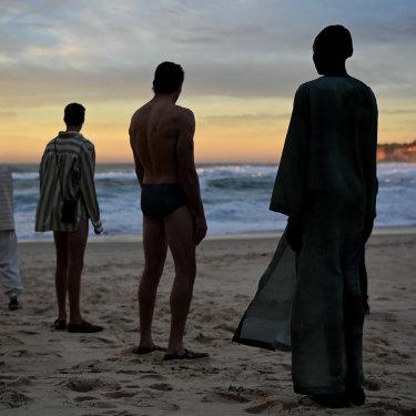 Commas made their Australian Fashion Week runway debut with a sunrise show at Tamarama Beach.