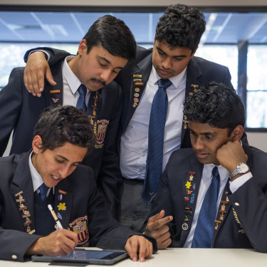 Students practise maths to prepare for exams.