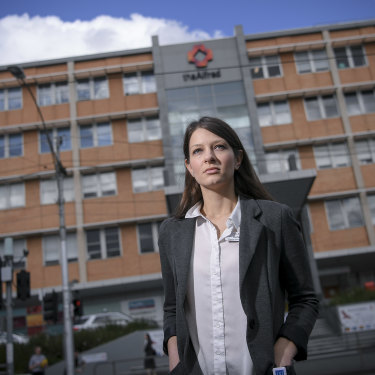 Infection prevention nurse Daniela Karanfilovska at The Alfred hospital.